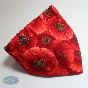 Red Poppies Dog Bandana