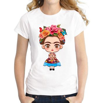 Women/Jrs 2018 Hot Cartoon Mexican Frida Kahlo T Shirt - Free Shipping