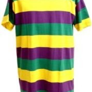 One Size Long Mardi Gras Rugby Shirt/Dress