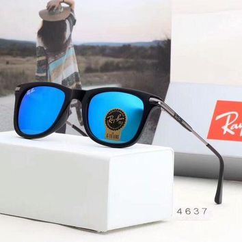 RayBan Ray-Ban Fashion Women Men Casual Sunglasses Sun Shades Eyeglasses Glasses Sunglasses Sky Blue I-A-SDYJ