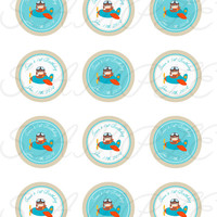 Planes, Aviator Stickers, Cupcake Topper, Tags, great for birthday partys. Aviator printable. Planes printable. Aviator birthday party