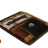 Boho Vegan Leather Wallet for Woman Ladies Wallets Bifold Wallet for Woman with Coin Pocket and Card Holder - UNUSUAL Wallet