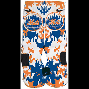Mets Inspired Custom Nike Elite Socks