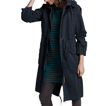 Seasalt RAIN® Collection Jibe Slouchy Waterproof Parka, Fathom at John Lewis