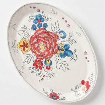 Peony Portrait Platter by Molly Hatch Multi One Size House & Home