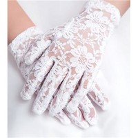 2015 women's fashion gloves  short lace gloves lace driving gloves sexy lace gloves 3 colors