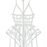 Chromat White Full Cage Dress