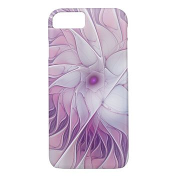 Beautiful Pink Flower Modern Abstract Fractal Art iPhone 8/7 Case