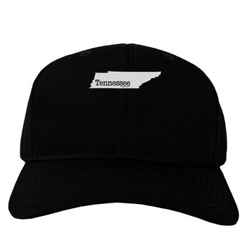 Tennessee - United States Shape Adult Dark Baseball Cap Hat by TooLoud