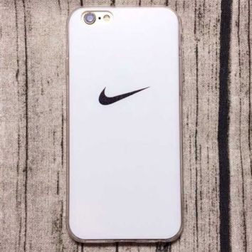 White Nike Logo Hard Case for iPhone