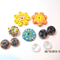 Glass lampwork beads assorted colors and sizes, supplies