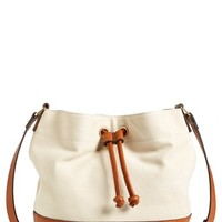 Junior Women's Street Level Canvas & Faux Leather Bucket Bag - Brown