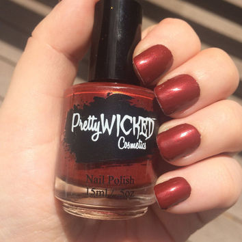 Blood Red Nail Polish, Jezebel Polish, Red Nail Polish, Dark Red Nail Polish, Creme Nail Polish