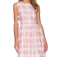 Marc by Marc Jacobs Blurred Gingham Dress in Pink