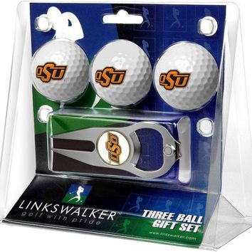 Oklahoma State Cowboys Hat Trick Divot Tool 3 ProVictory Ball Gift Pack
