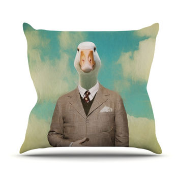 "Natt ""Passenger 15A"" Duck Outdoor Throw Pillow"