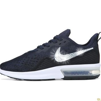 Nike Air Max Sequent 4 + Crystals - Obsidian/Gold