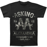 Asking Alexandria Men's  Black Label T-shirt Black Rockabilia