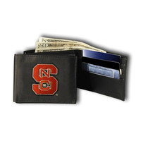North Carolina State Wolfpack NCAA Embroidered Trifold Wallet