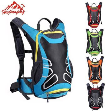 HU WAI JIAN FENG Bicycle Bag Shoulder Backpack Ultralight Sport Riding MTB Hydration Backpack 15L Bike Bicycle Cycling Backpack