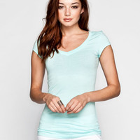 Active V-Neck Womens Tee Cloud Blue  In Sizes