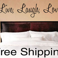 LIVE LAUGH LOVE wall vinyl sticker inspirational romantic home art quote