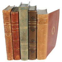 One Kings Lane - Mad for Manhattan - Decorative Leather      Books, S/5
