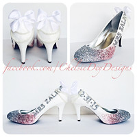 Dream Wedding Ombre Glitter High Heels