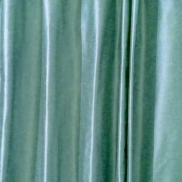 Grommet Curtain Panel Multiple Sizes Teal Dupioni Faux Silk -Provence Medium Weight Silk Drapes Cotton Lining -Bedroom -Window Treatments