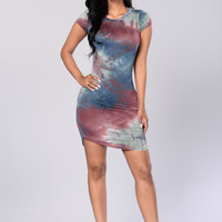 Groovy Tie Dye Dress - Multi