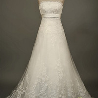 Sylvia custom wedding gown
