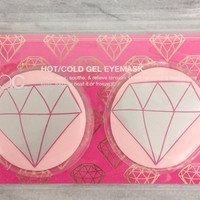 Hot/Cold Gel Eye Mask in Diamond Pink