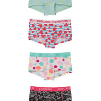 PCLOGO LADY BOXERS 14-129 GRAPHIC 4, Pieces