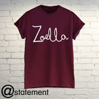 Zoella-T-Shirt-pointlessblog-Alfie-Vlogger-Blog-Youtube-black