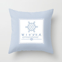 Winter Wonderland Throw Pillow by Rose's Creation