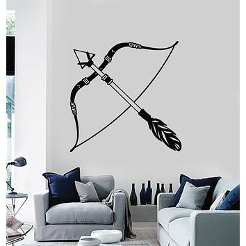 Vinyl Wall Decal Arrows Bow Feathers Ethnic Style Art Decoration Stickers Mural (g1104)