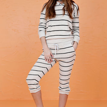 CHASER LA | Striped French Terry Slouch Pant