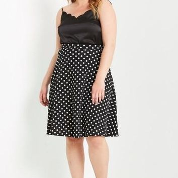 Do The Polka Flare Skirt