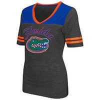 ONETOW NCAA Florida Gators Ladie's Twist V-Neck Short Sleeve T-Shirt