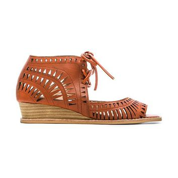 Jeffrey Campbell Rodillo Sandal in Burnt Orange
