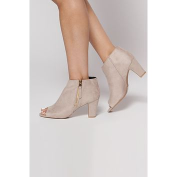 Daytime Darling Booties (Taupe)