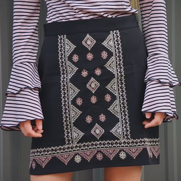 The Ella Embroidered Skirt