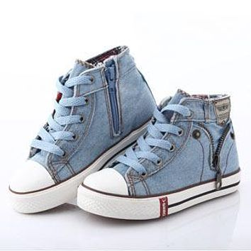 New Kids Classic Canvas Shoes Children Casual Jeans Plimsolls Spring & Autumn Student Boys & Girls Boots