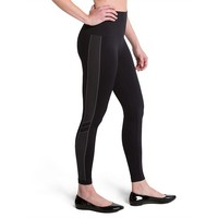 Assets Red Hot Label by Spanx Striped Shaping Leggings, Size: