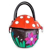 Personality Cute Mushroom Pattern Beautiful Flower Bags Handbags Women Famous Brands Designer PU Leather Tote Shoulder Bags