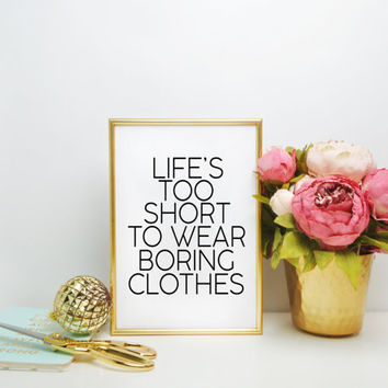MAKEUP PRINT Clothes Inspirational poster Fashion motto Wall decor Mottos graphic Gift women Typography art Gift for her Fashionista