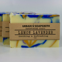 Lemon Lavender Soap - Cold Process Soap - Handmade Soap