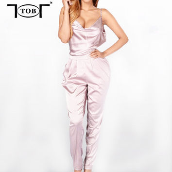 new 2016 summer rompers women jumpsuits bodycon sexy party club plus size sleeveless elegant women clothing jumpsuit XD828