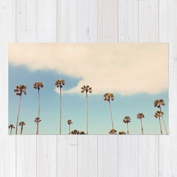Palm trees Rug by sylviacookphotography
