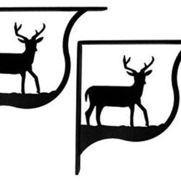 Wrought Iron Deer Shelf Brackets Corner Accent -3 Sizes Available